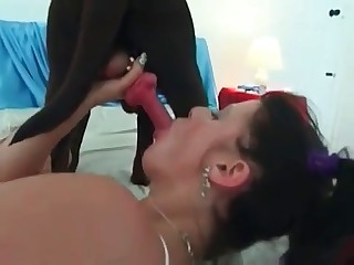 Nasty Doberman fucks a slender girl