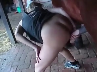 Gorgeous sex with a young horse